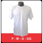 Camiseta Basica cor Branca (Sem estampa)