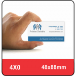 1.000 Cartão de Visita 4X0 - 250 G